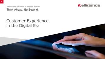 Customer experience in the digital era